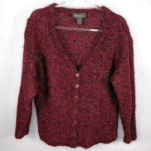 Designs by Lane Bryant Mohair Button Up Cardigan